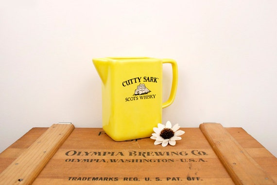 vintage Cutty Sark scotch whiskey pitcher