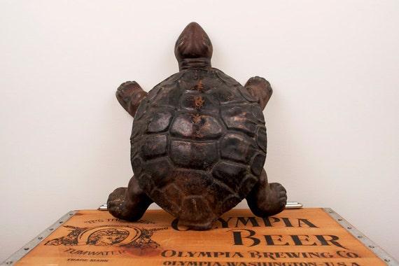 Vintage Cast Iron Metal Turtle Spittoon Decor By Beautifulline