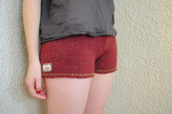 Rosy Hand-Knit Girl Shorts, Boxers, Pajama Bottoms, Lingerie, Knickers, Price Reduced