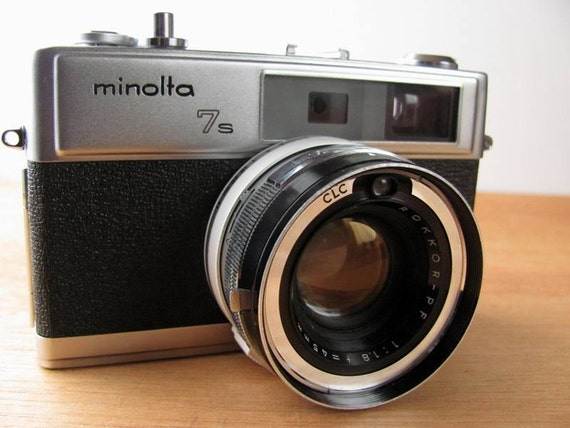 Vintage Minolta Hi-Matic 7S Rangefinder 35MM Film Camera
