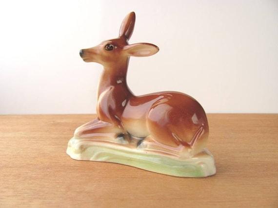 Stewart McCulloch Deer Vintage California Pottery Figurine