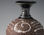 Brown, Black, and White Porcelain Vase No. 1