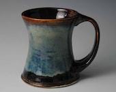 Brown and Blue Ceramic Coffee Mug