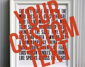 Custom 8x10 Poster in 'Kerouac' Style, Black
