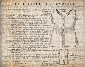 Antique Fancy Paris France Corset Ad Illustration Digital Download for Tea Towels, Papercrafts, Transfer, Pillows, etc Burlap No 6371