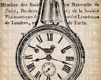 Antique Clock Steampunk Time Piece Illustration Digital Download for Tea Towels, Papercrafts, Transfer, Pillows, etc No 6649