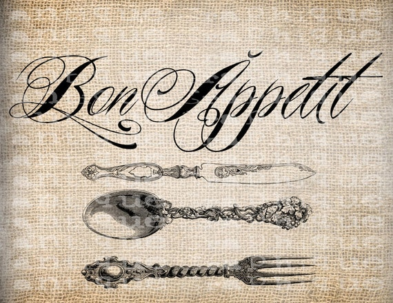 Antique Paris France Bon Appetit Spoon Fork By