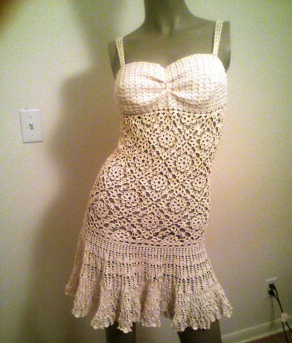 Items Similar To Crochet Wedding Dress Pattern On Etsy