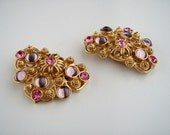 RESERVED for Marine //   Vintage Marbella Collection for Avon Jose Barrera   Earrings Clip on