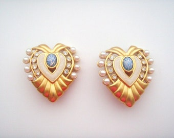Elizabeth Taylor Jewelry for  Avon Hearts of Hollywood  Earrings Clip on #592