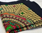 Vintage 80s' Sophisticated Embroidered Mat, HANDMADE IN CHINA