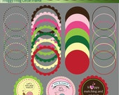 Froggy Frog Circle Frames - Commercial and Personal Use - No Credit Required - 11FC
