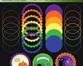 Halloween Circle Frames - Commercial and Personal Use - No Credit Required - 24FC