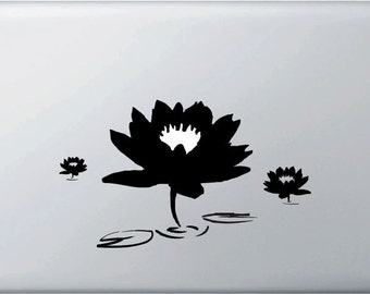 MB - Zen Lotus Pond Vinyl Decal for Macbooks, Laptops and More... (Color Variations Available)
