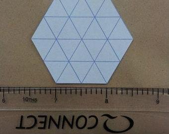 100 hexagon patchwork paper templates
