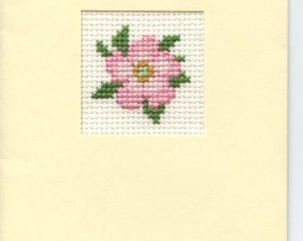 Greetings card with rose design
