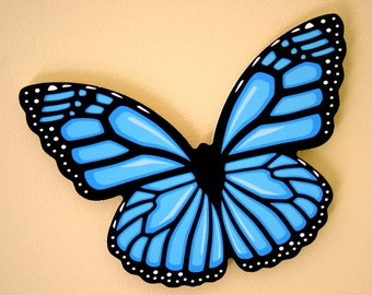 Blue Butterfly Wall Decoration