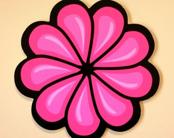 Pink Flower Wall Decoration