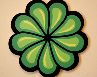 Green Flower Wall Decoration
