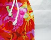 Floral print designer fabric cotton bag