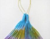Spring morning - Hand dyed tassel earings/murMur