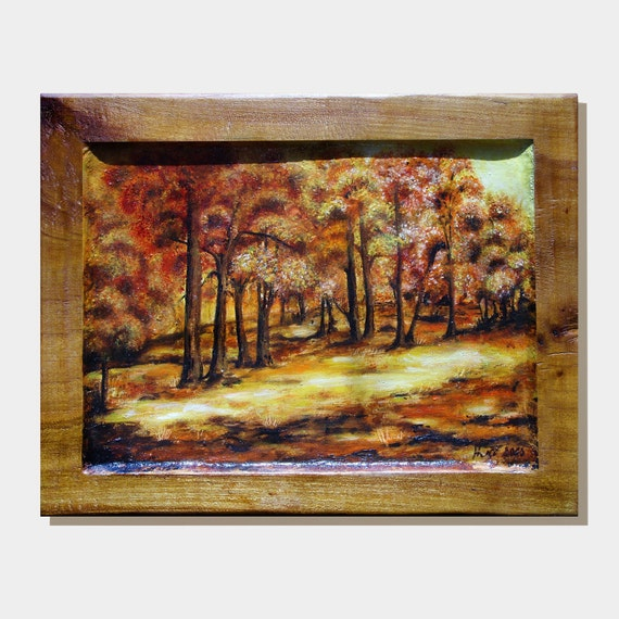 "Oil Painting ORIGINAL Landscape ""Autumn"" MariyaArts"