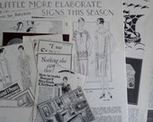 1920s Vintage Magazine Ephemera Scrap Pack (Fashion Ads Decor): Set B