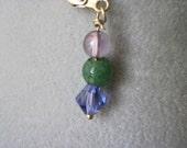 Clearance - Earrings - Purple and Green - Wisteria