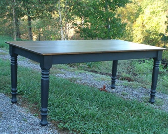 Rustic Kitchen Table, Distressed Farm Table