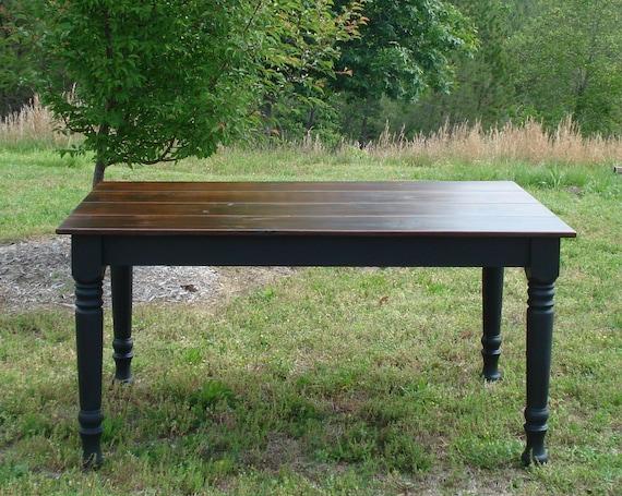 Black dining table custom dining room tables on etsy for Dining room tables etsy
