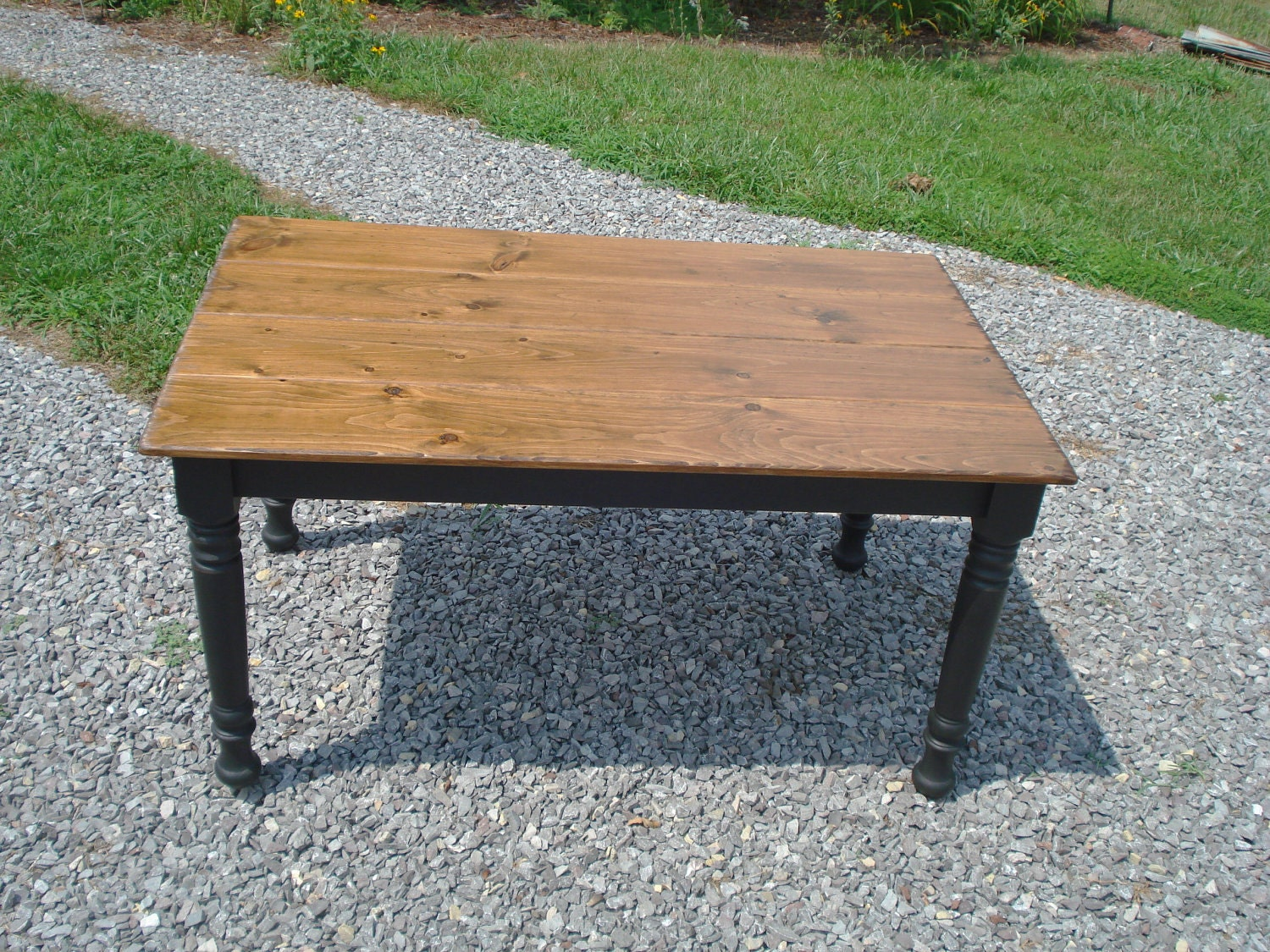 Dining room table farmhouse style table etsy farm by Farm dining table