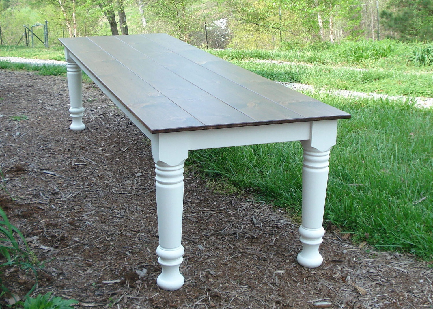 10 foot farm table wood dining table farmhouse table rustic