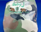 Bear Embroidered Camo diaper cover