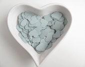 RESERVED - Confetti - 200 paper hearts - Grey - Valentine - Love - Decor - Birthday - Weddi