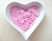 Confetti - 200 CARDBOARD flowers - Pink -  Baby shower - Flavors - Wedding - Birthday - Party - Spring - Summer - Flowers - Pink