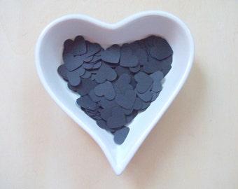 Confetti - 200 CARDBOARD hearts - Party - Birthday cake - Spring - Summer - Halloween - Dark - Men