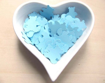 Confetti - 200 CARDBOARD bears -Bear - Baby shower - Favors - New Born Baby -  Decor - Baby Boy - Decor