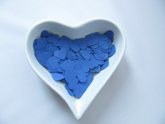 Confetti - 200 CARDBOARD hearts - Blue - Spring - Summer - Baby shower - Wedding - Flavors - Love - Decoration