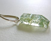 Light Green Beryl & Sterling Silver Necklace