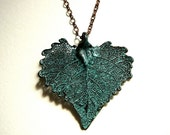 Copper Patina Leaf Necklace I 50% OFF Today