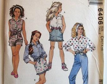 1993  McCalls 6406 Girls Separates