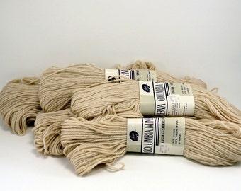 Yarn Cream Wool Rayon Five Skeins