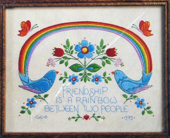 Rainbow Friendship Embroidery Kit