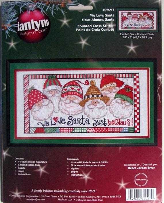 Santa Kit Counted Cross Stitch Christmas