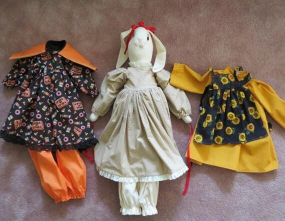Bunny Rabbit Stuffed Large Many Outfits