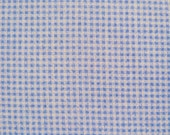 Wizard of Oz Dorothy Tiny Blue & White Gingham Check Stretch Netting Fabric