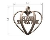3D Heart Pet ID Tag - Stainless Steel Custom Pet ID Tag