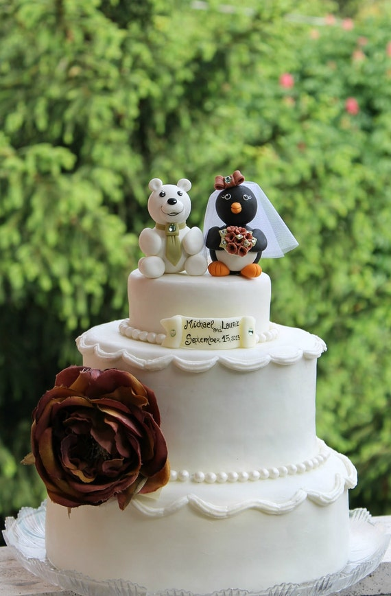 Polar Bear Wedding Cake Topper