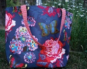 Reusable Grocery Bag Tote - Washable Fabric - Passion Market Bag