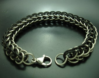 Black and Silver Full Persian Bracelet